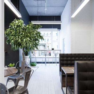 """Cafe-1-400x400 Кафе """"Bibble & Sip"""" в Киеве площадью 100 м2"""